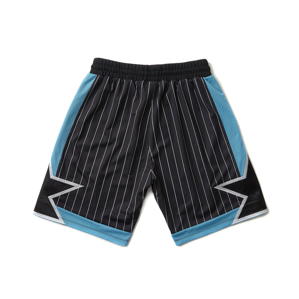 STRIPED PLAYER SHORTS (BLACK)