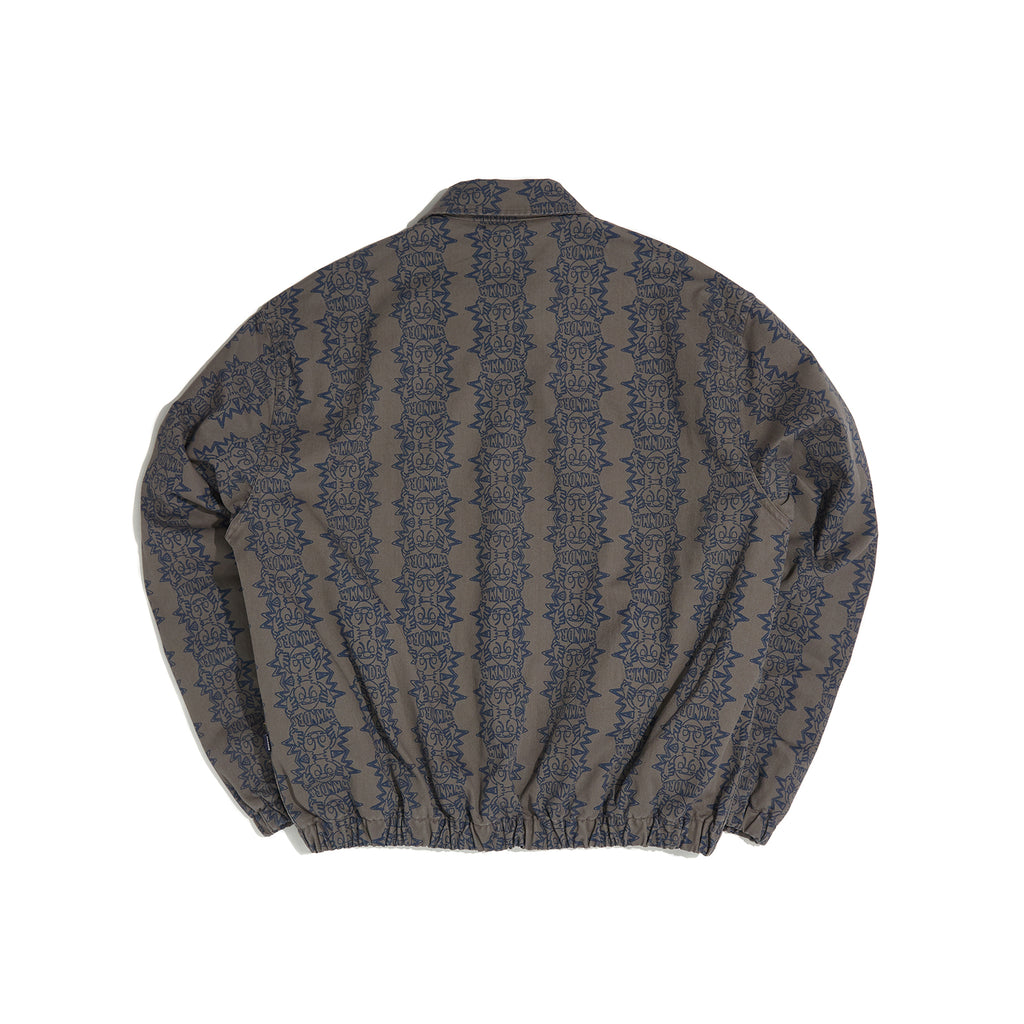 SMILE PATTERN JACKET (GREY)