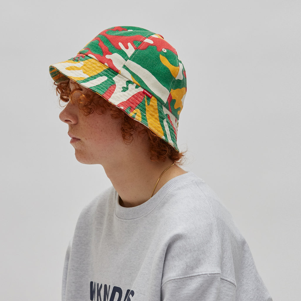 CAMO BUCKET HAT (RED)