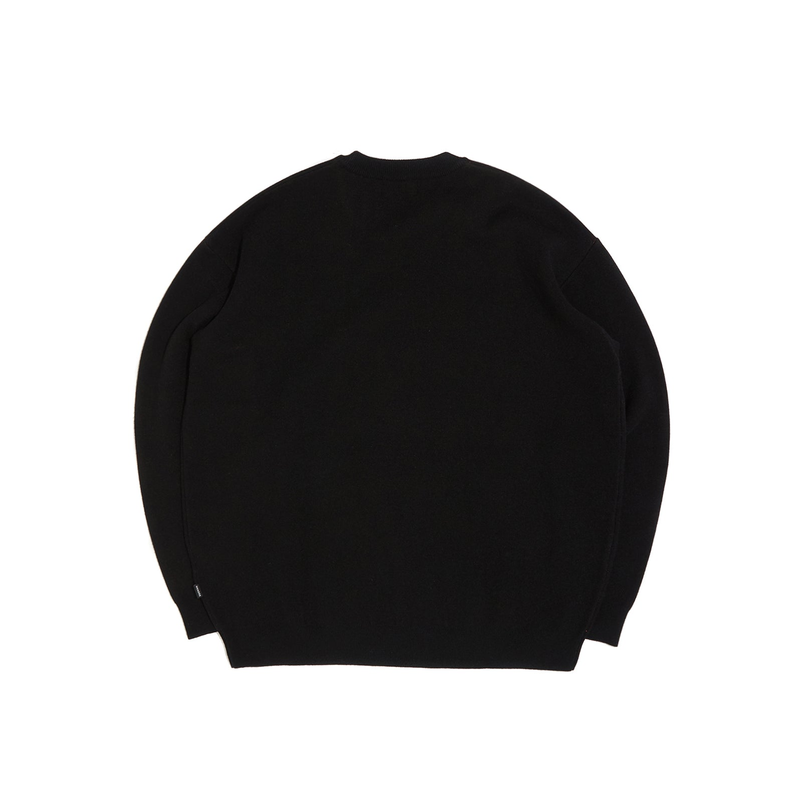 WAVY LOGO KNITTED CREWNECK (BLACK)