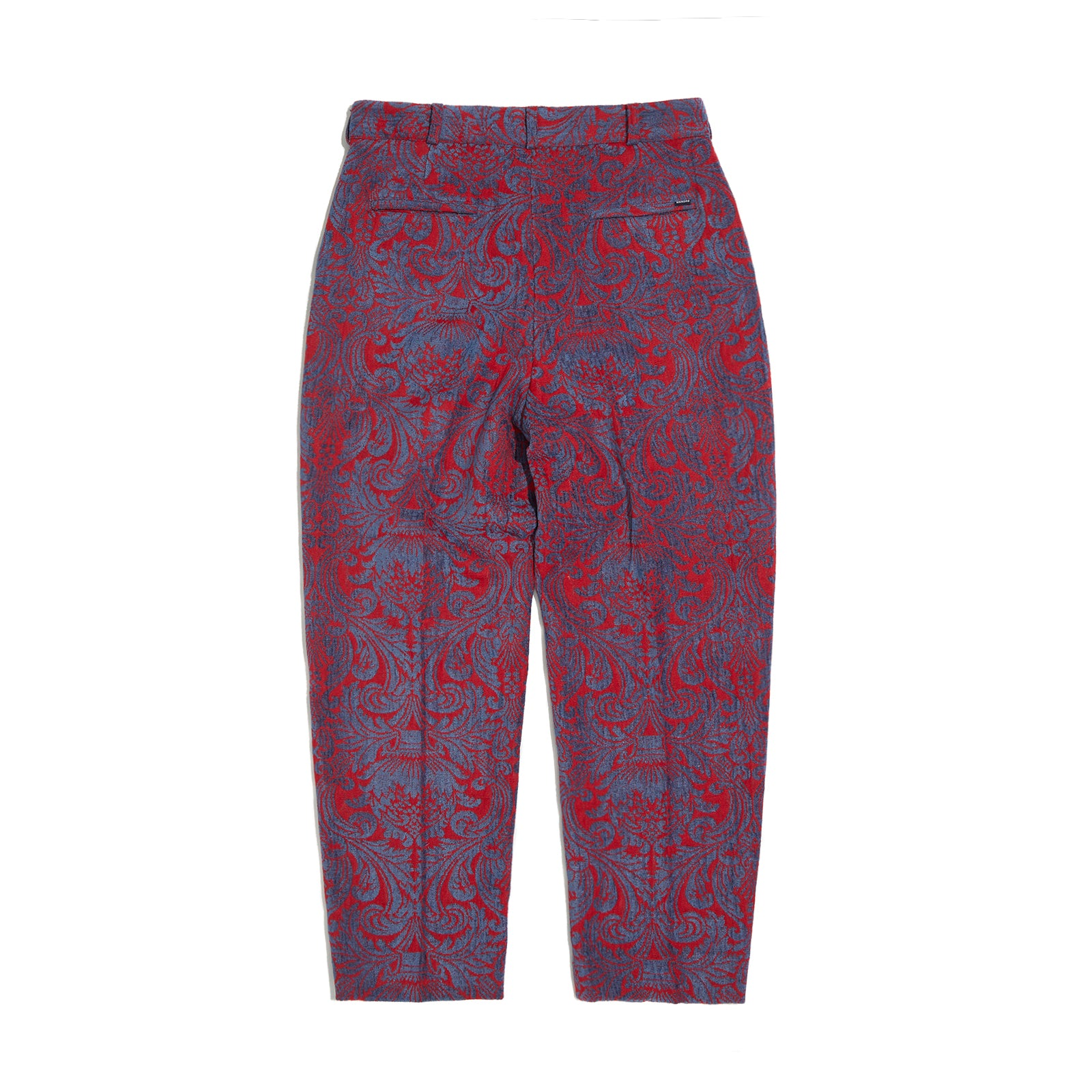 FLORAL JACQUARD PANTS (RED)
