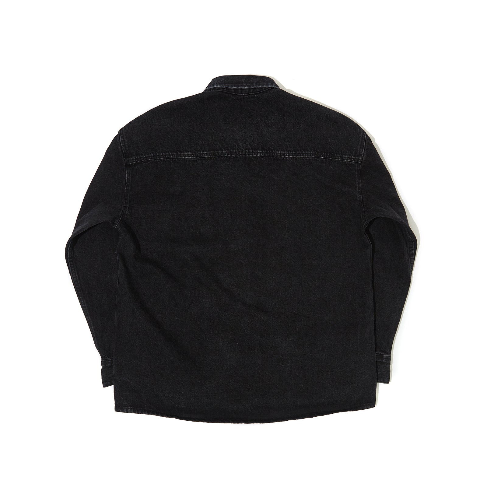 OVERSIZED DENIM SHIRT (BLACK)
