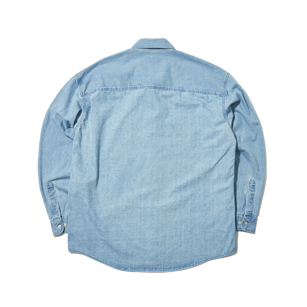 OVERSIZED LS DENIM SHIRT (DENIM)