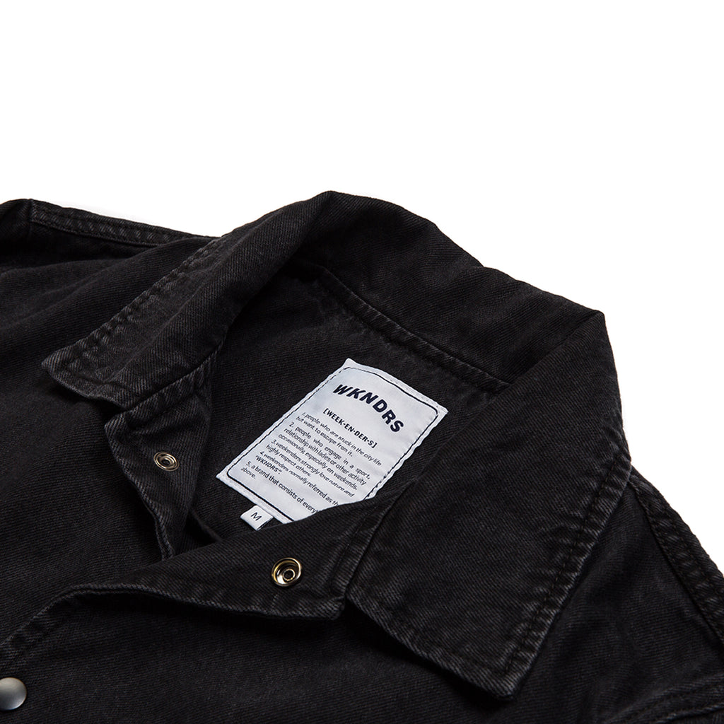 DENIM COACH JACKET (BLACK)