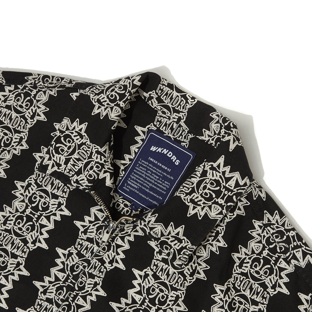 SMILE PATTERN JACKET (BLACK)