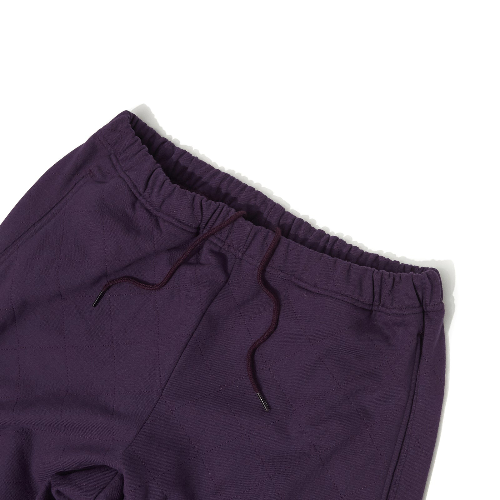 QUILTIED SWEAT PANTS (PURPLE)