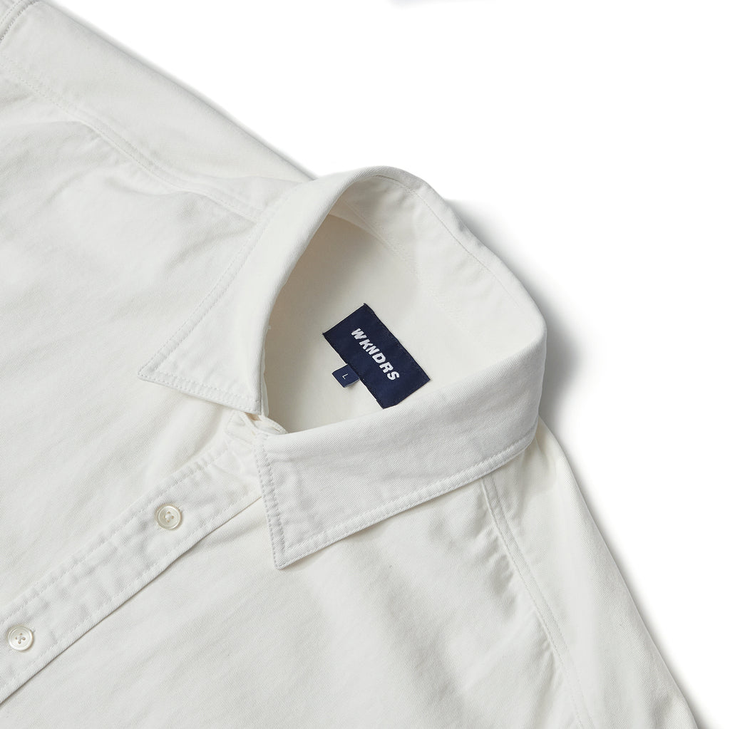BASIC DENIM SHIRT (WHITE)