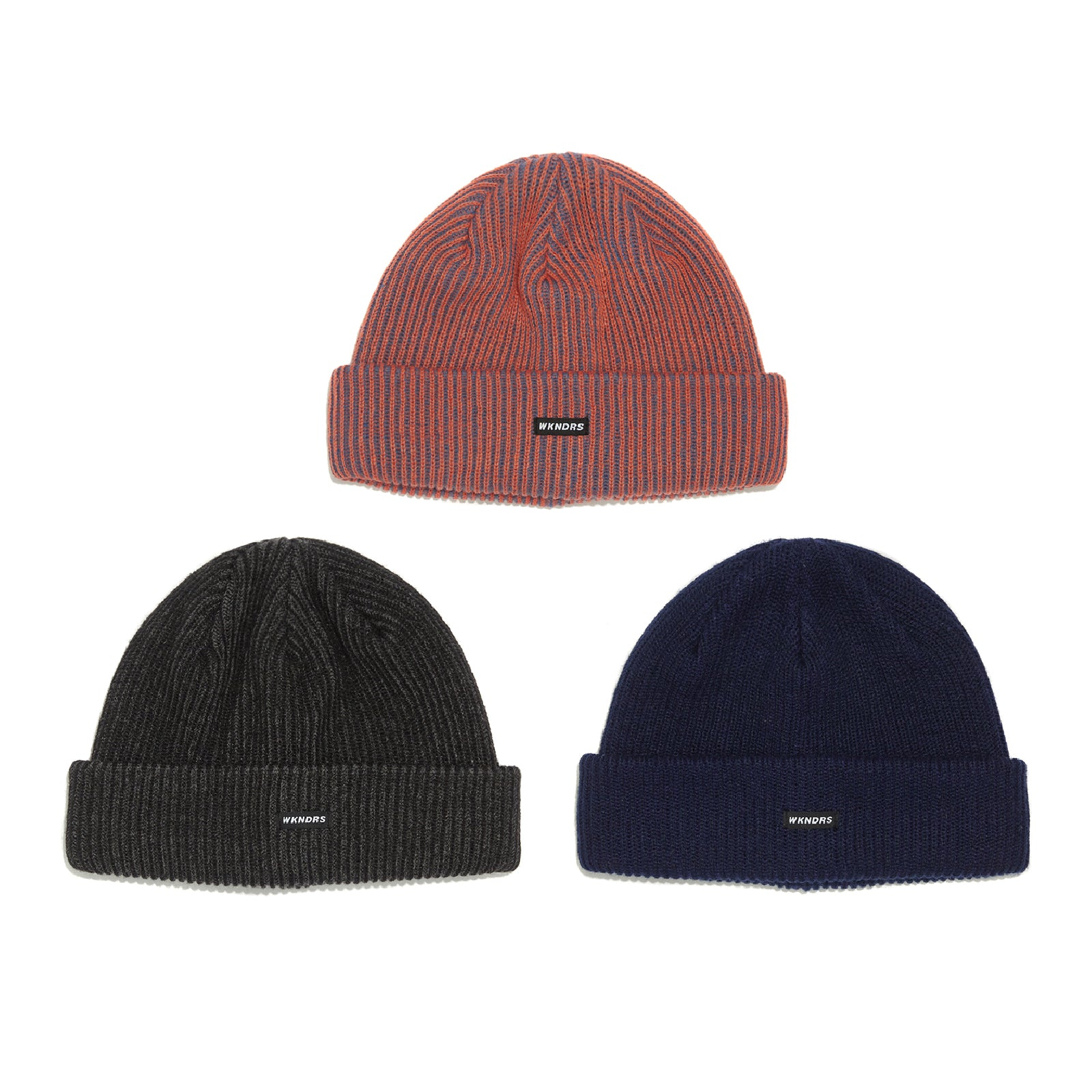 STRIPED BEANIE (ORANGE)