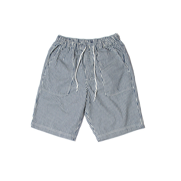 STRIPE DENIM SHORTS (WHITE)