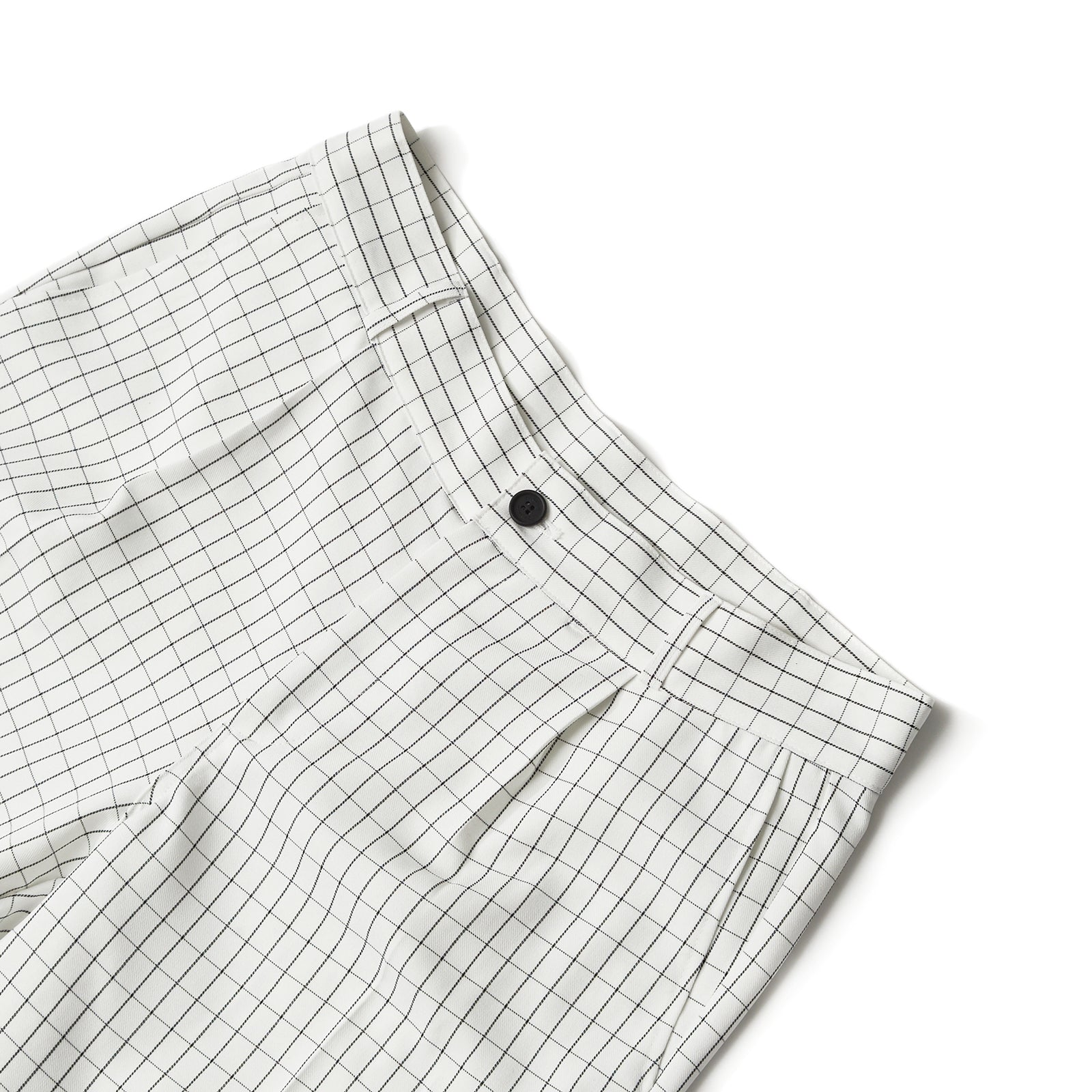 WINDOW CHECK PANTS (WHITE)