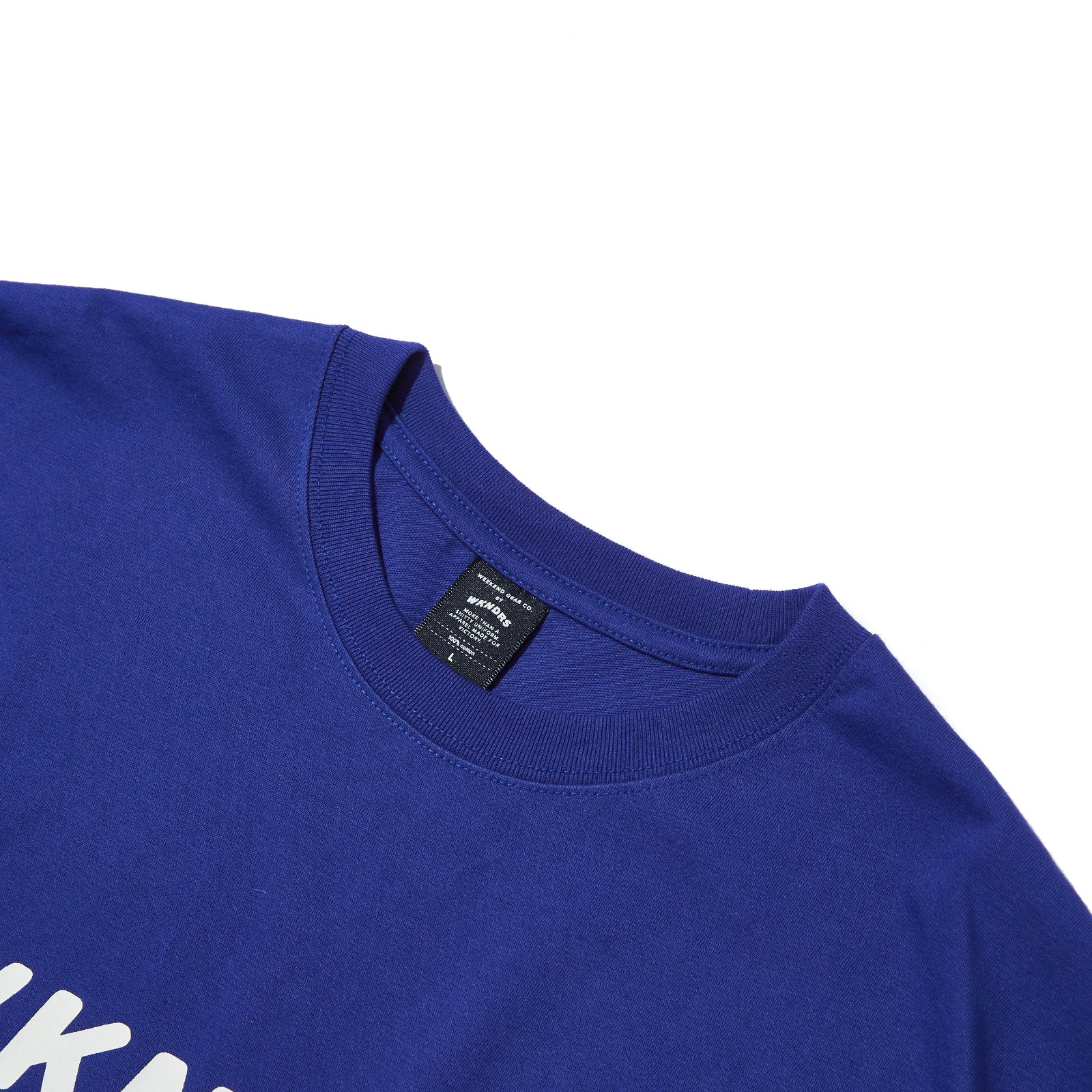 BASIC LOGO LS T-SHIRT (BLUE)