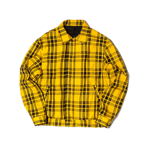 REVERSIBLE PLAID BLOUSON (YELLOW)