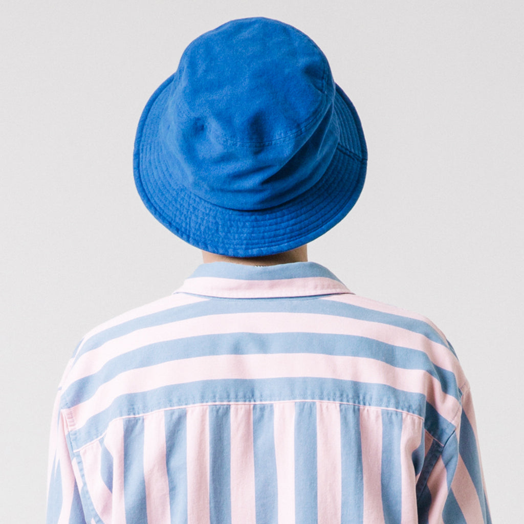 WASHED COTTON BUCKET HAT (BLUE)