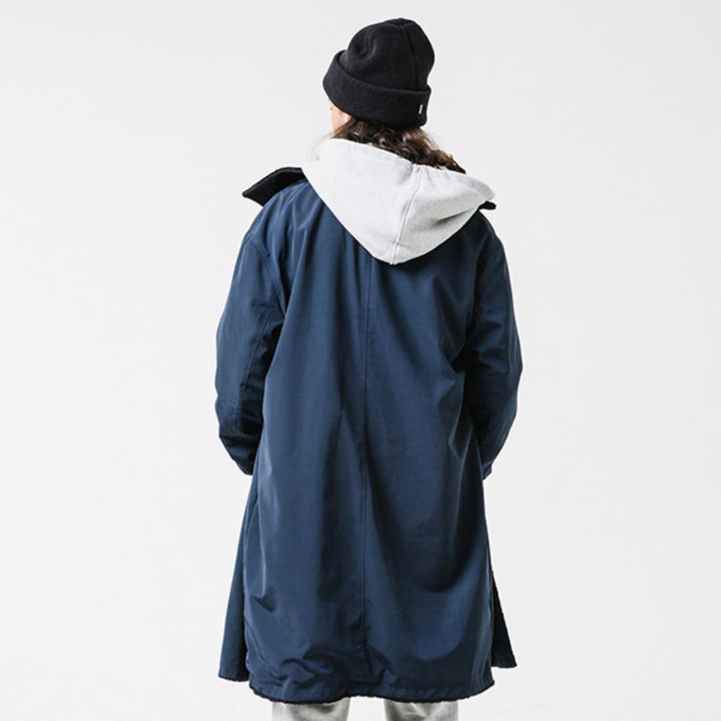FUR MAC COAT (NAVY)