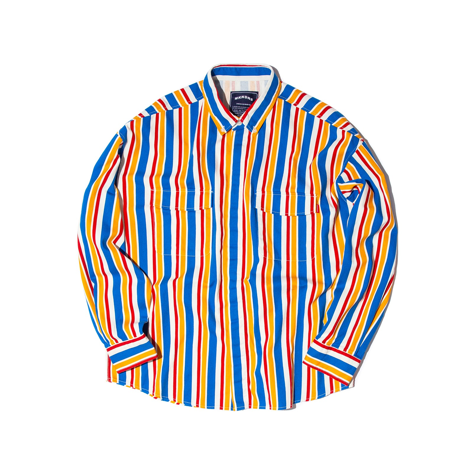 RETRO STRIPED SHIRTS JK (BLUE)