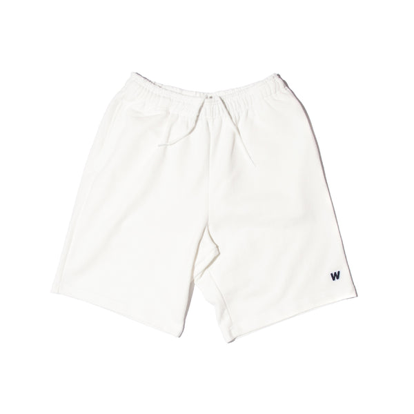 W SWEAT SHORTS (WHITE)