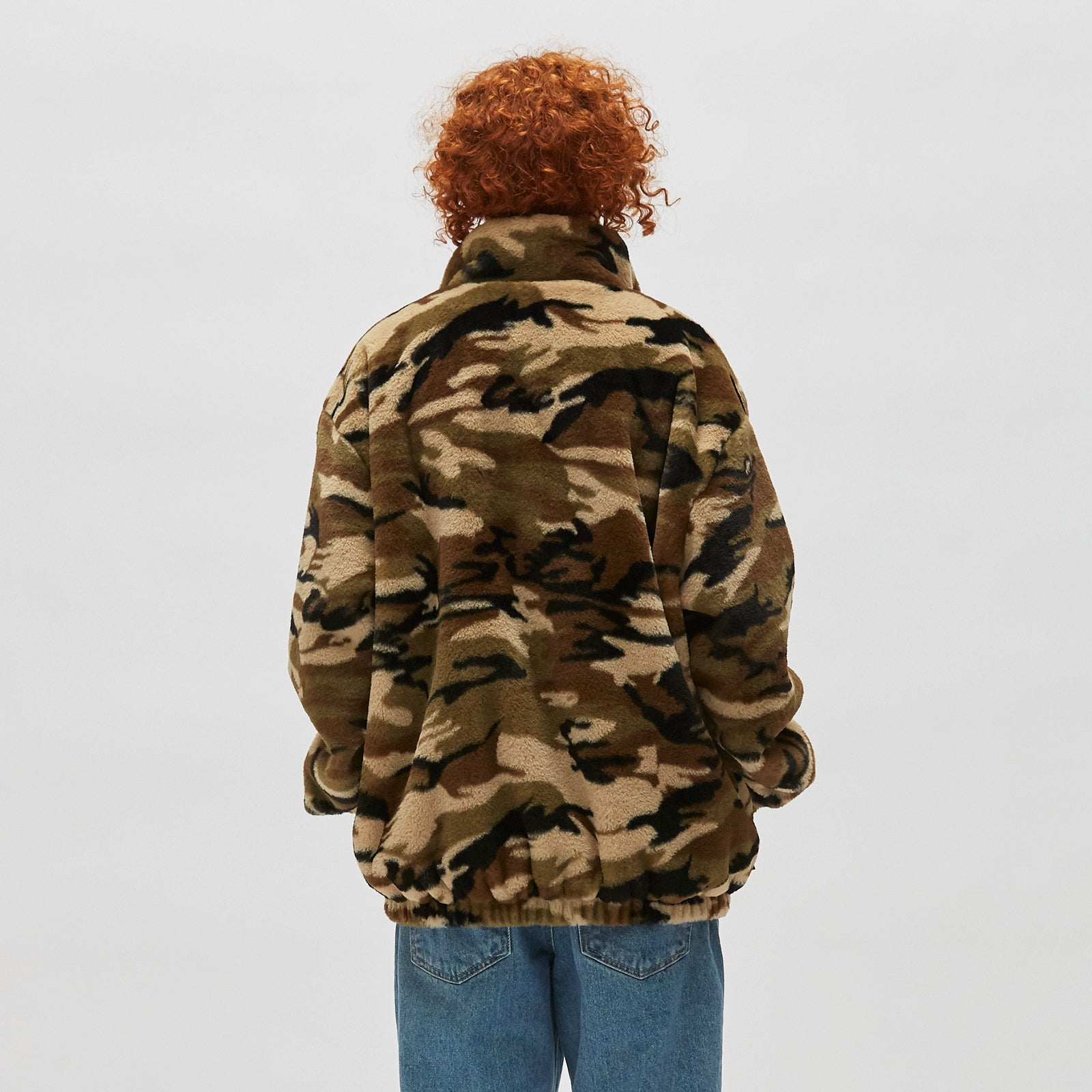REVERSIBLE CAMO FUR JACKET (KHAKI)