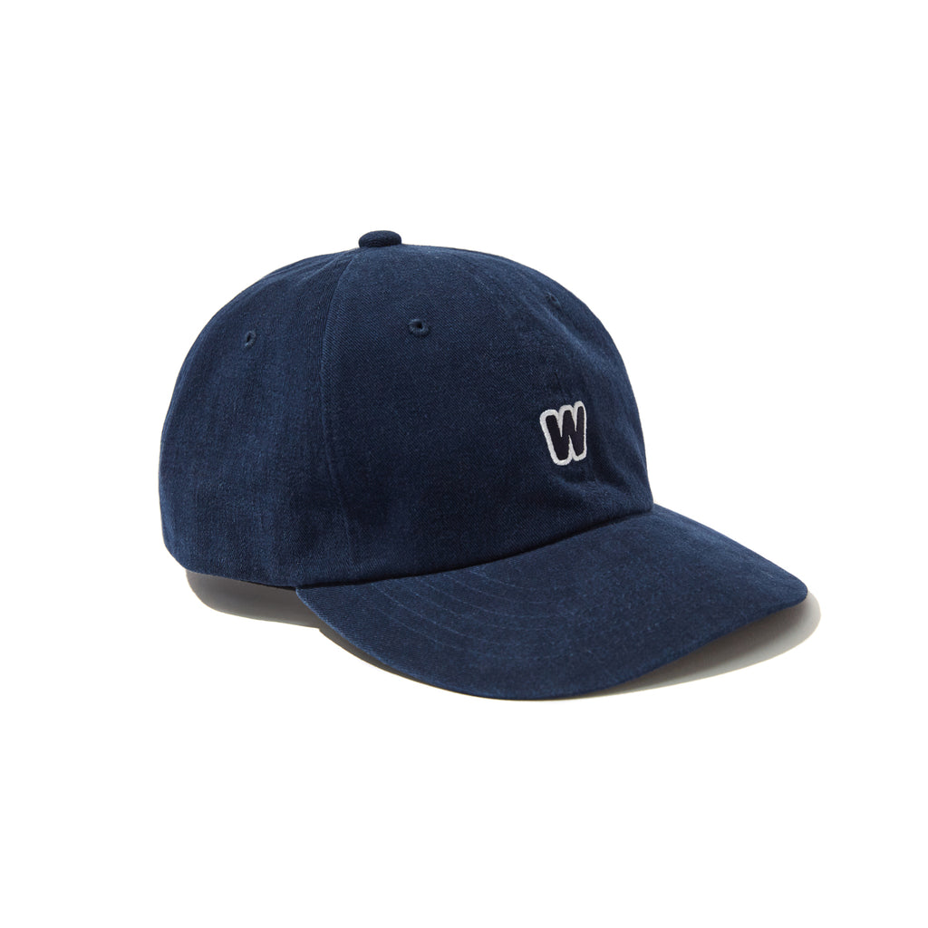 [OUT FOR DELIVERY-8.28] W LOGO CAP (NAVY)