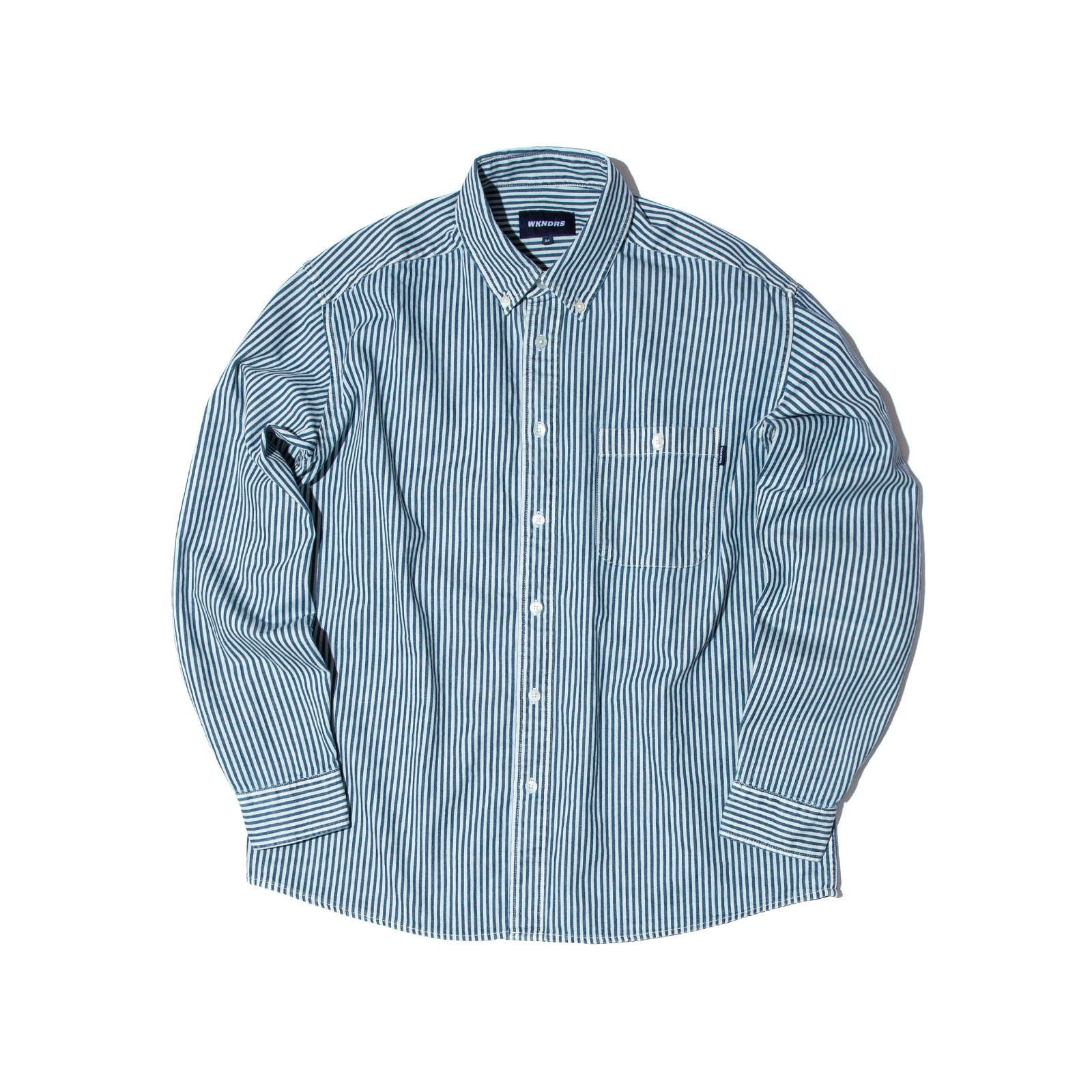 STRIPE DENIM SHIRTS (WHITE)