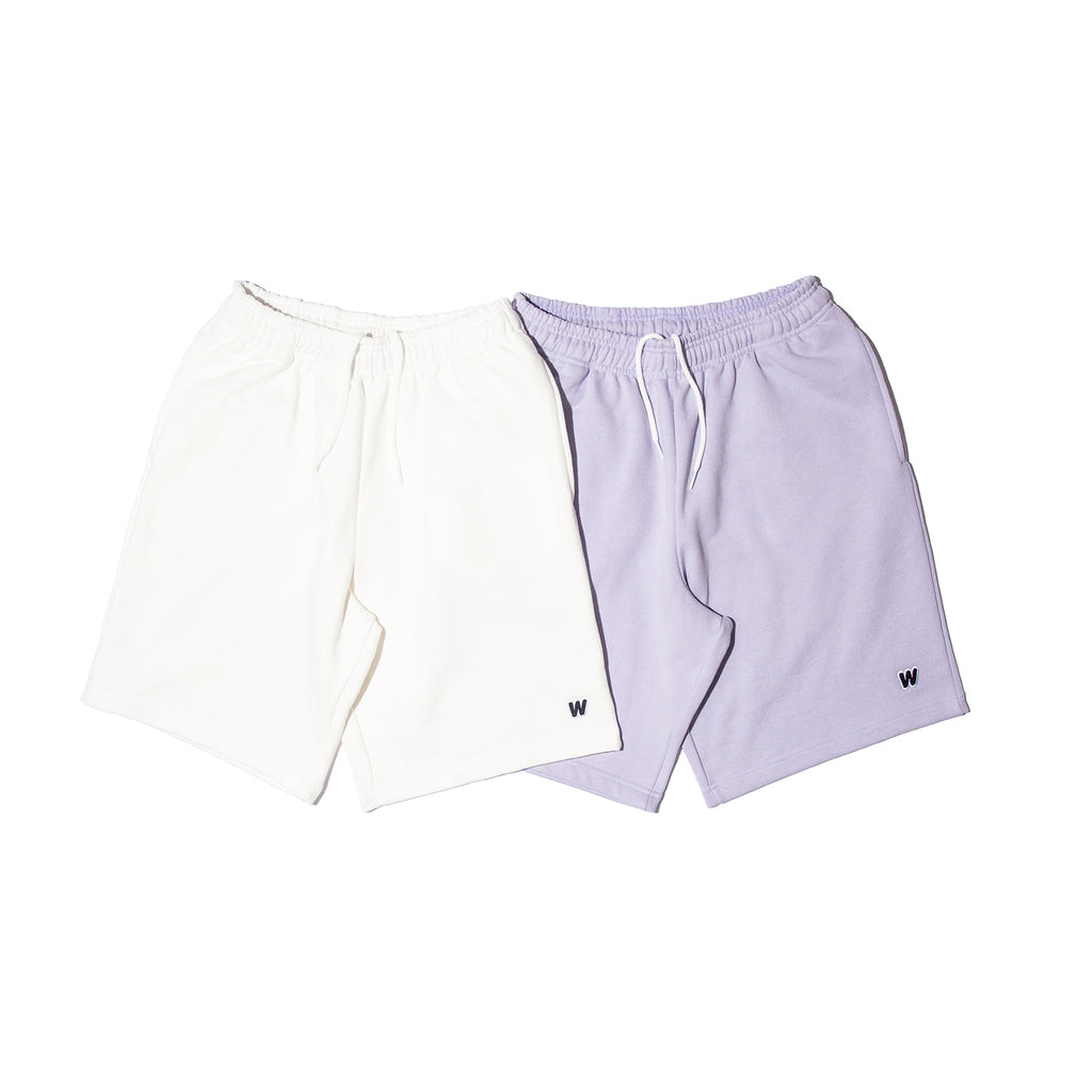 W SWEAT SHORTS (L.PURPLE)