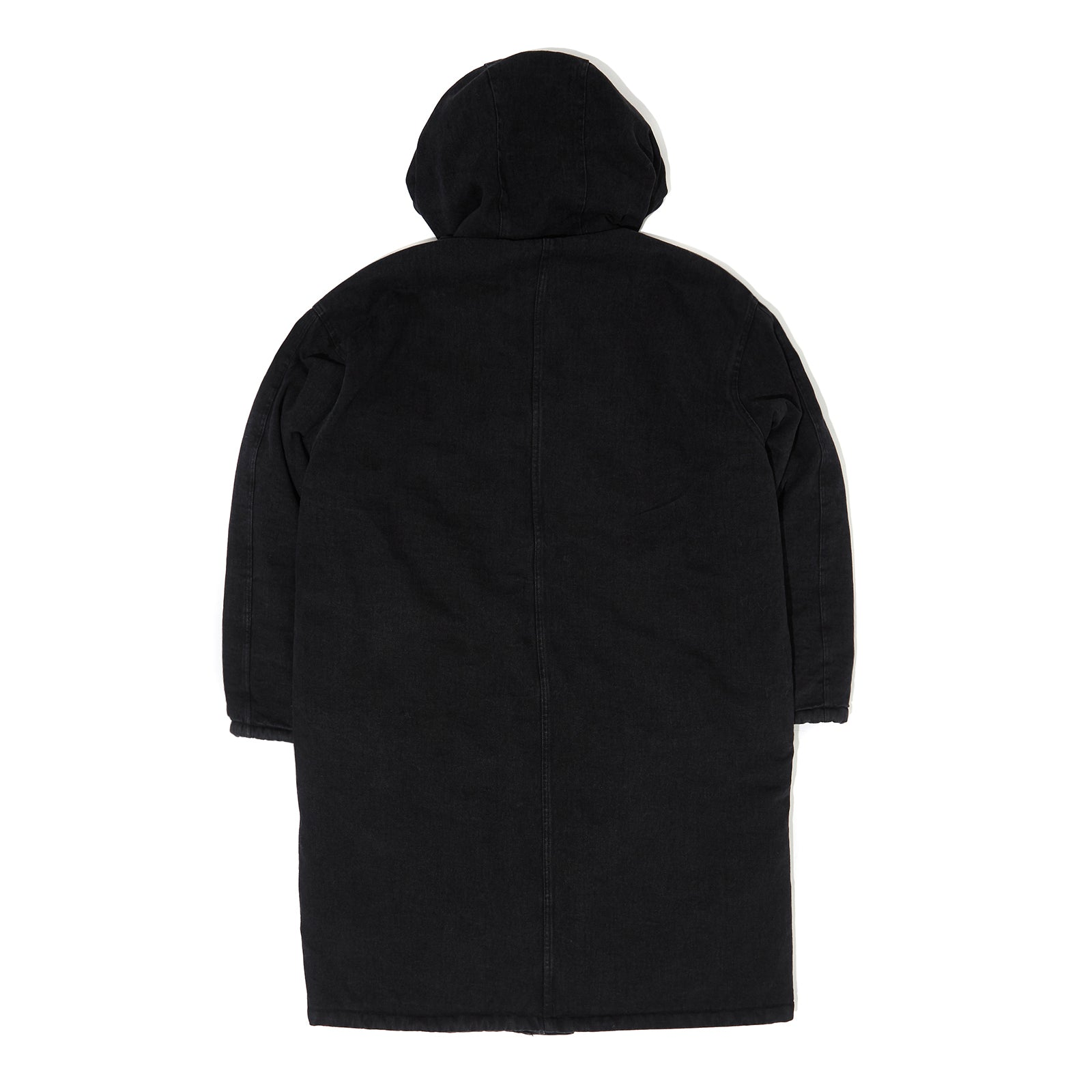 DENIM HOODED PARKA (BLACK)