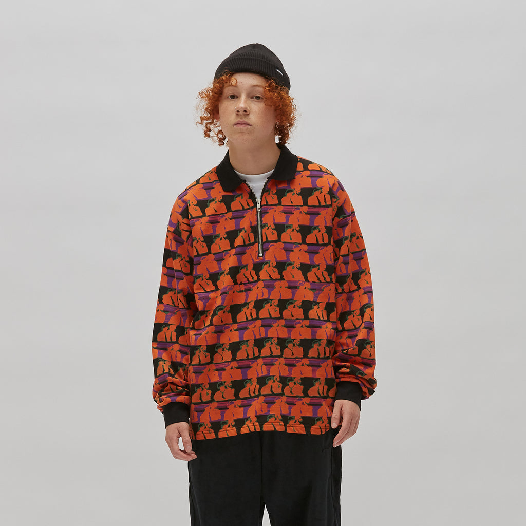 FSS POLO HALF ZIP (ORANGE)