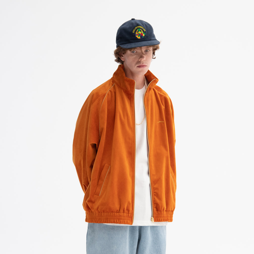 VELVET ZIPUP JACKET (ORANGE)