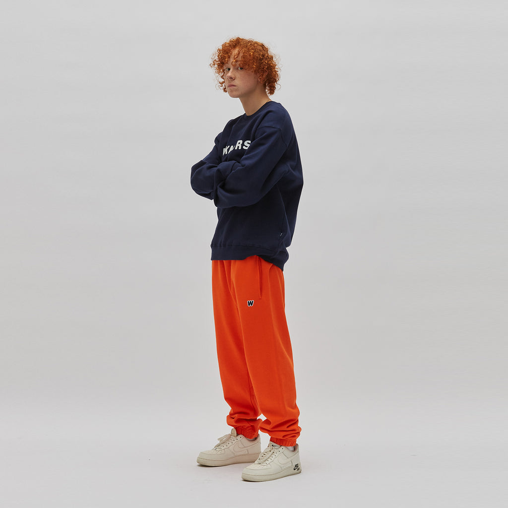 W LOGO SWEAT PANTS (ORANGE)