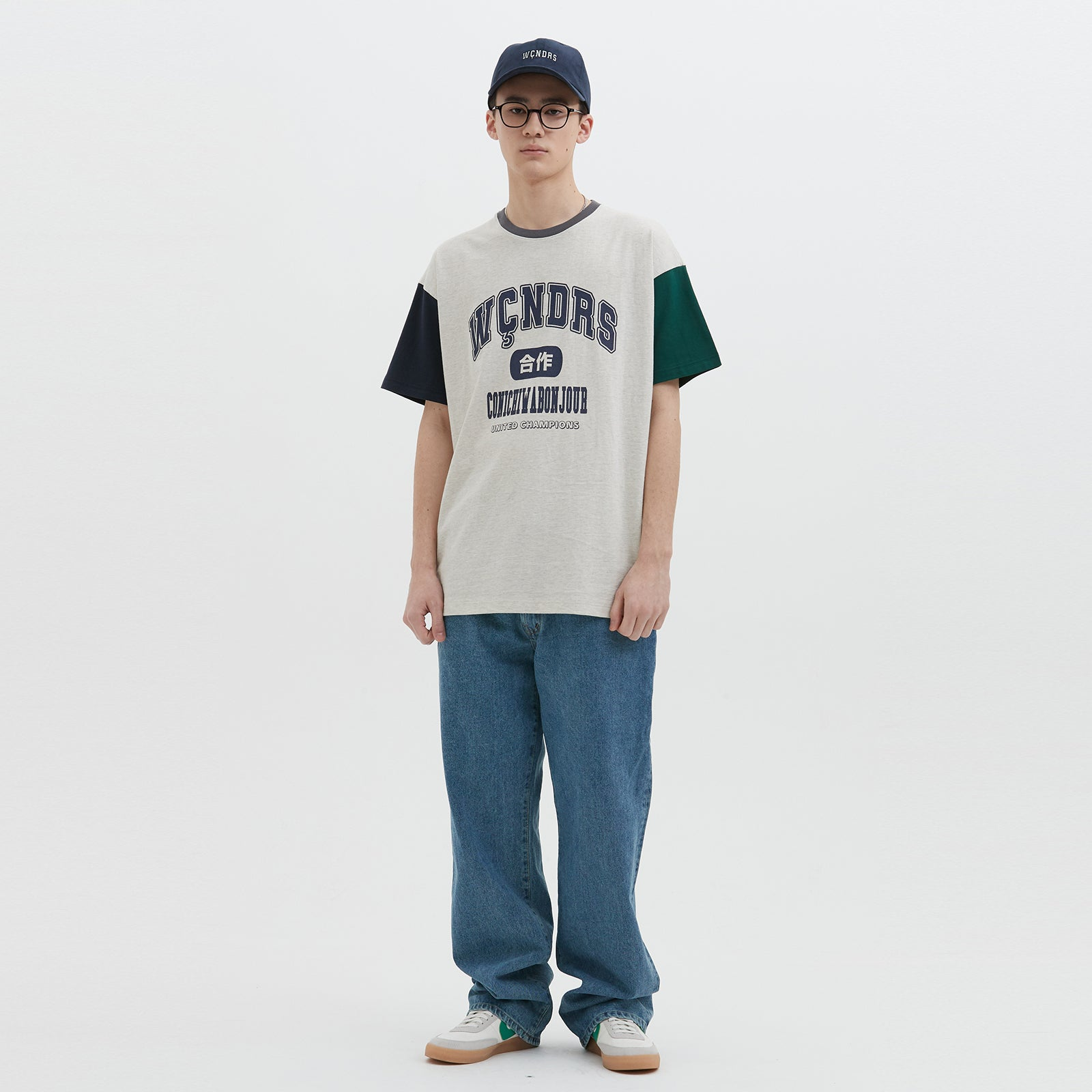 COLLEGE SS T-SHIRT (GREY)