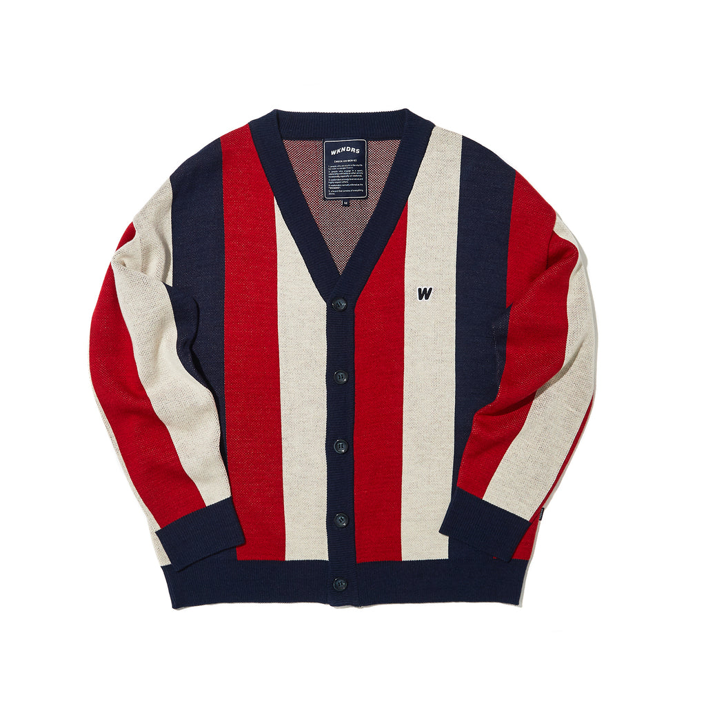 STRIPED CARDIGAN (RED)