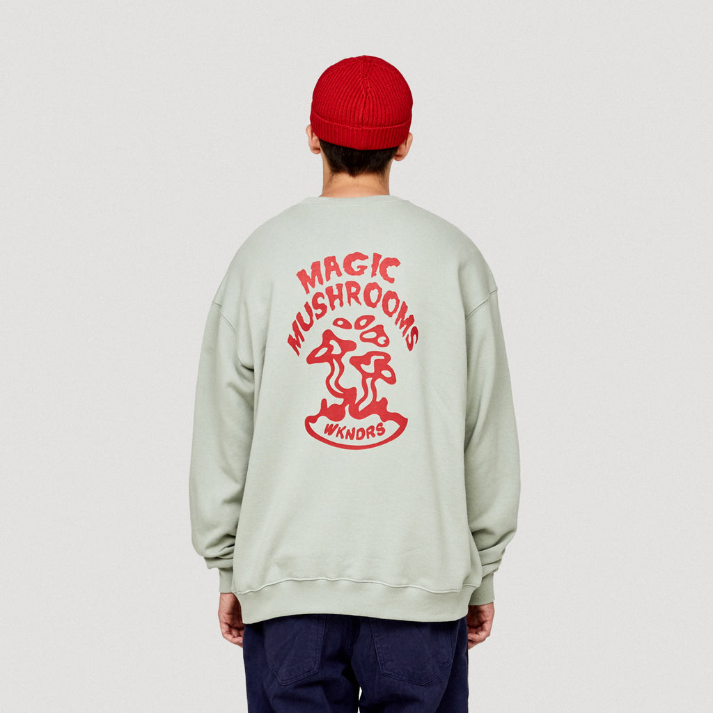 MAGIC MUSHROOMS CREWNECK (L.KHAKI)