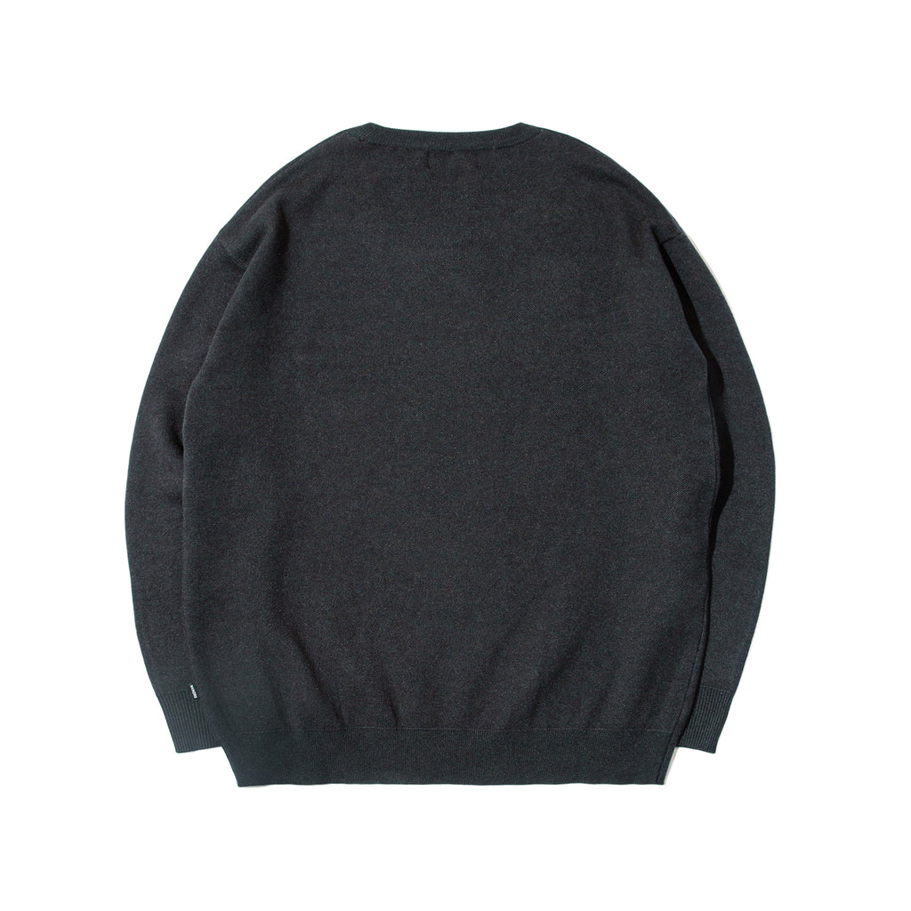 SASQUATCH KNIT CREWNECK (CHARCOAL)
