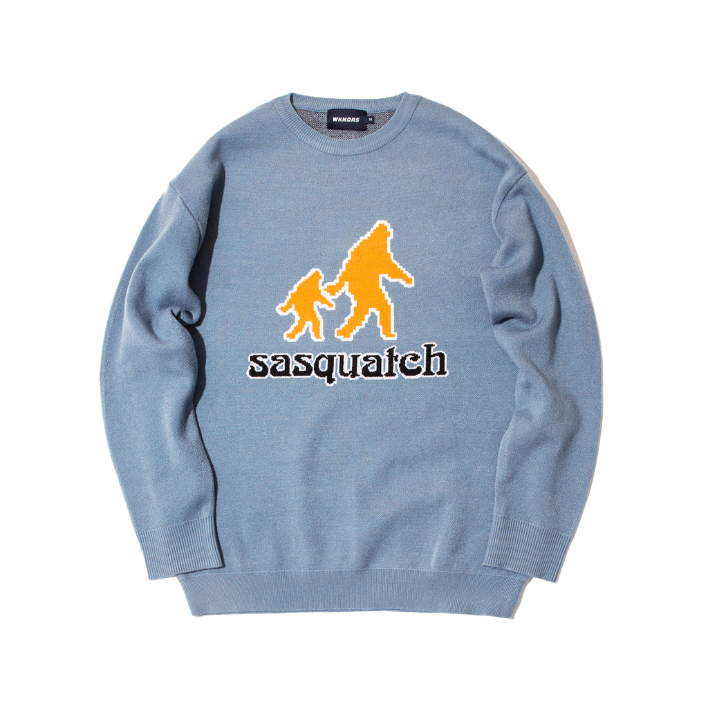 SASQUATCH KNIT CREWNECK (S.BLUE)