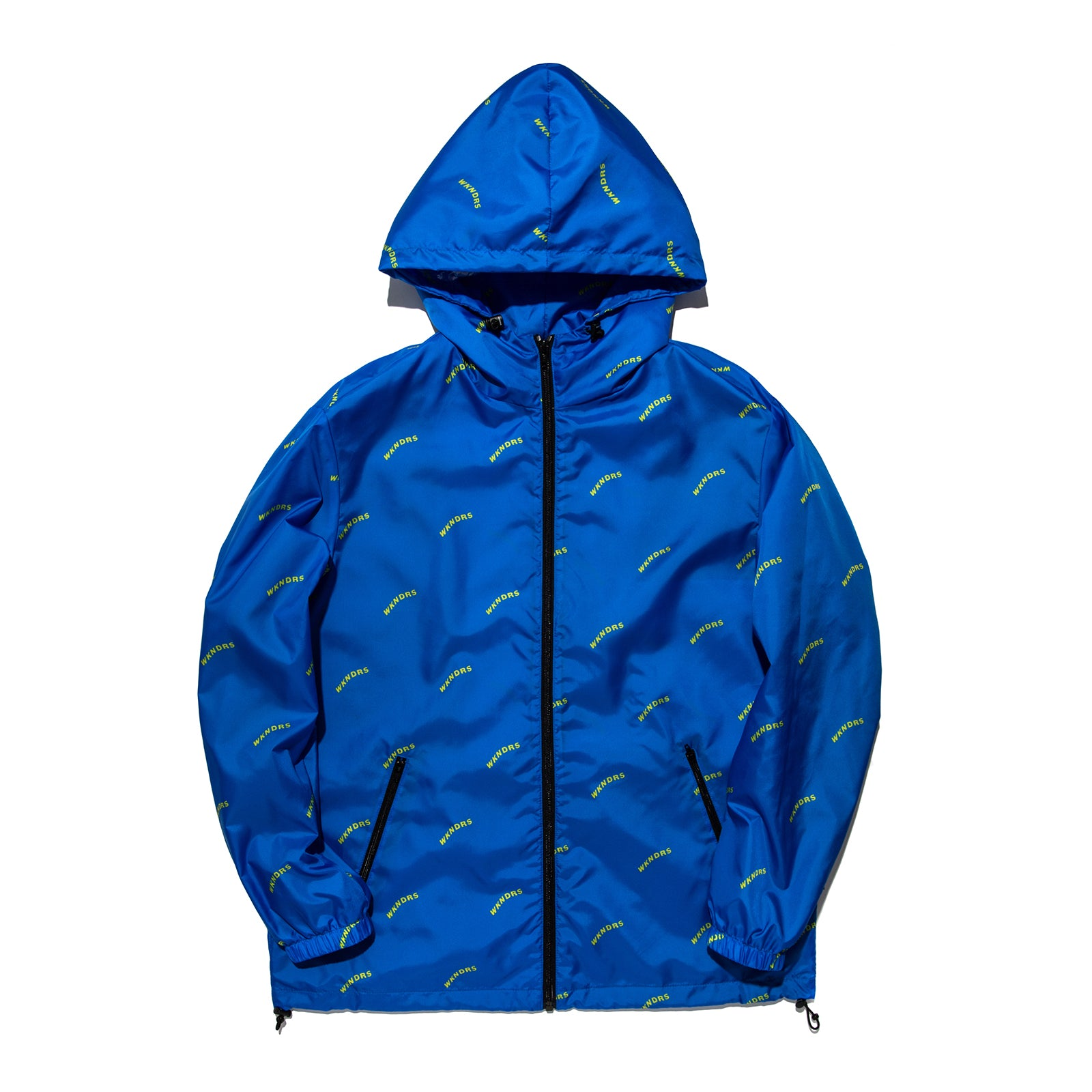 WAVY LOGO HOODED ZIP-UP (BLUE)