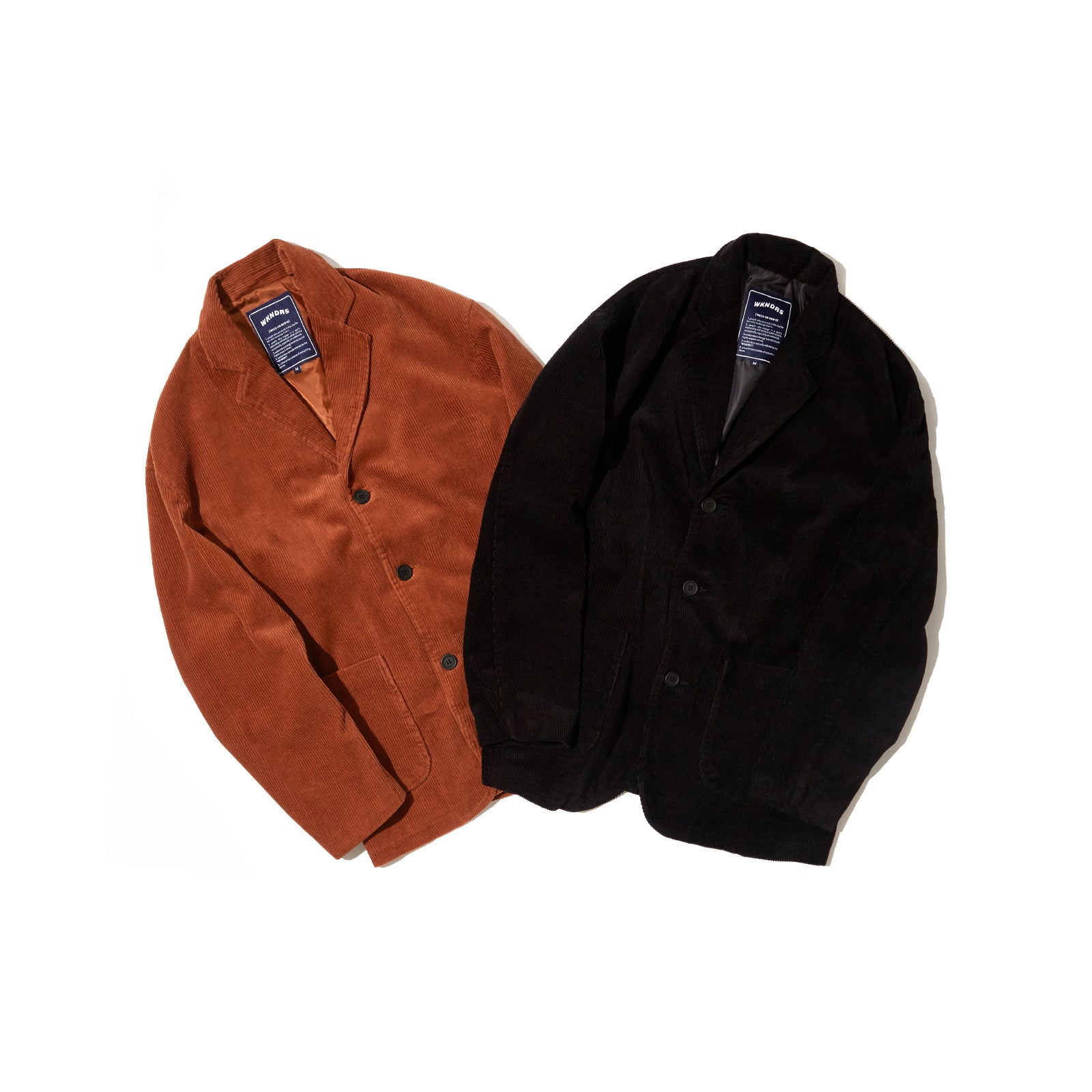 CORDUROY SINGLE JACKET (BROWN)