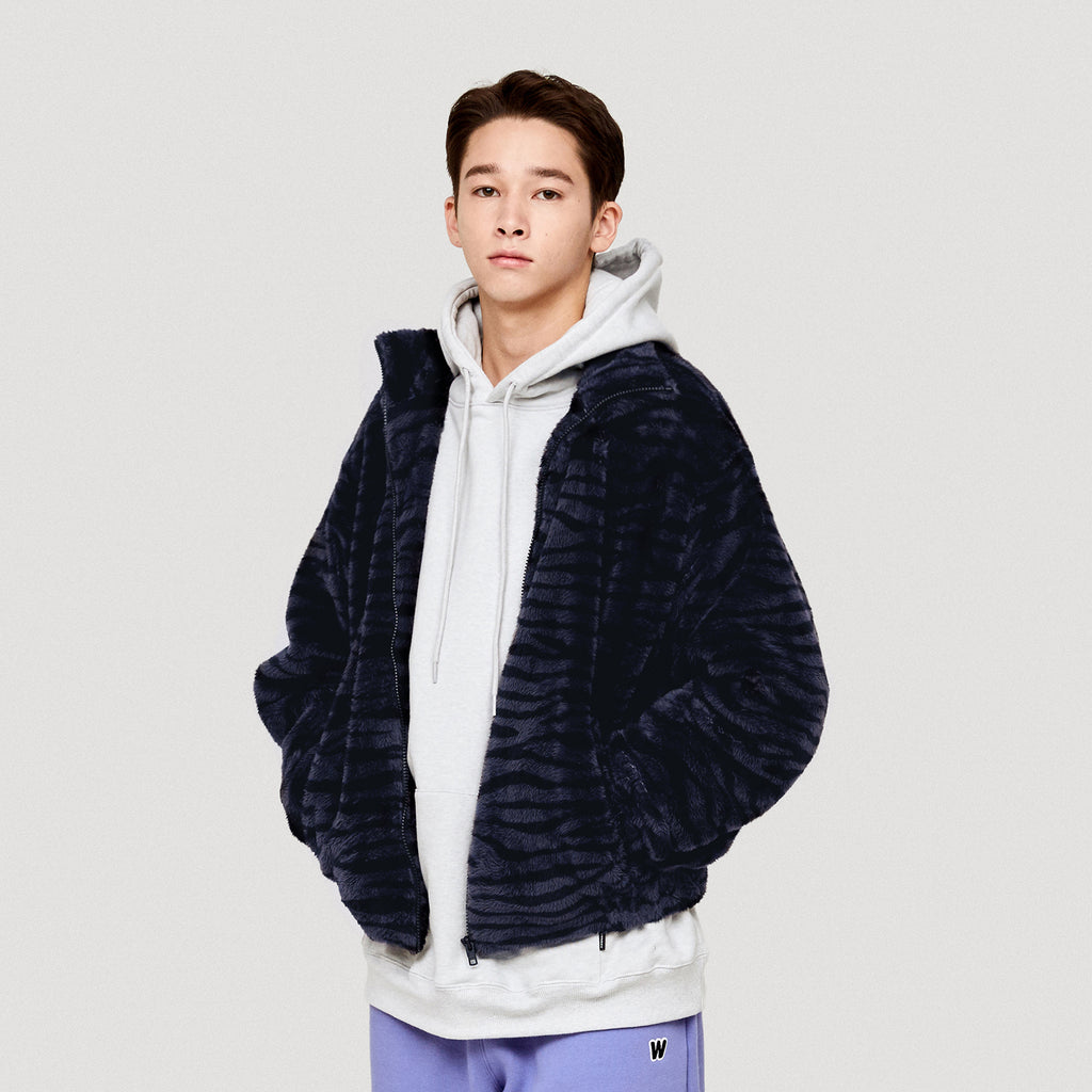 TIGER FUR PATTERN JK (NAVY)
