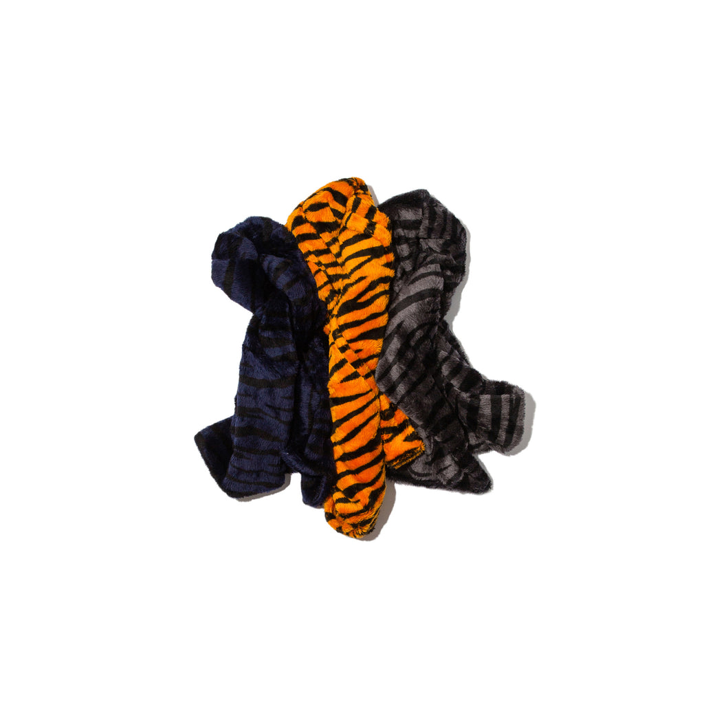 TIGER FUR PATTERN SCARF (NAVY)