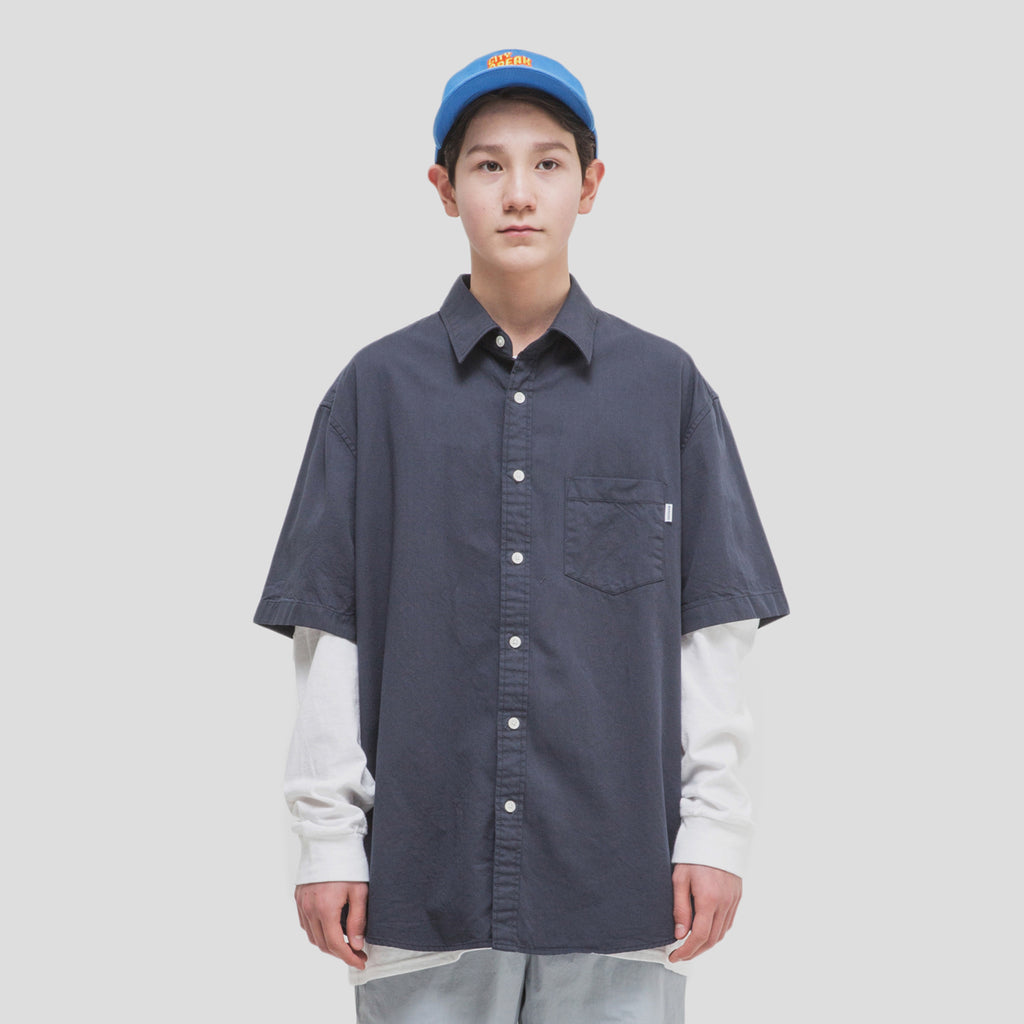NANCY SHORT-SLEEVE SHIRTS (NAVY)