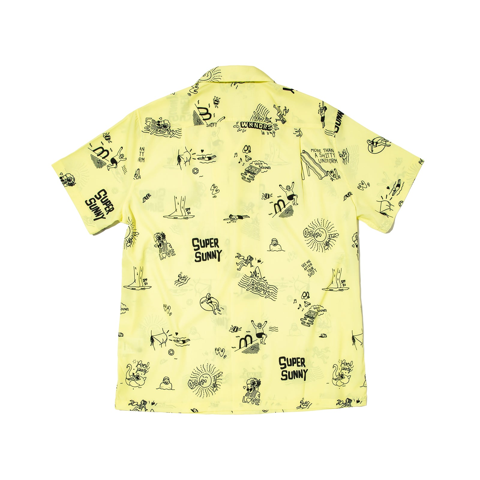 POOL PARTY SHIRTS (L.YELLOW)