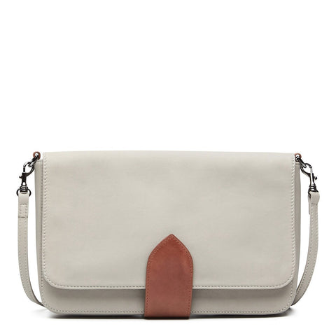 Cityscape Leather Crossover Bag Grey