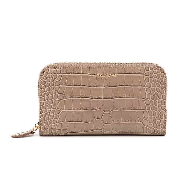 TB Zipwallet Croco - Light Beige