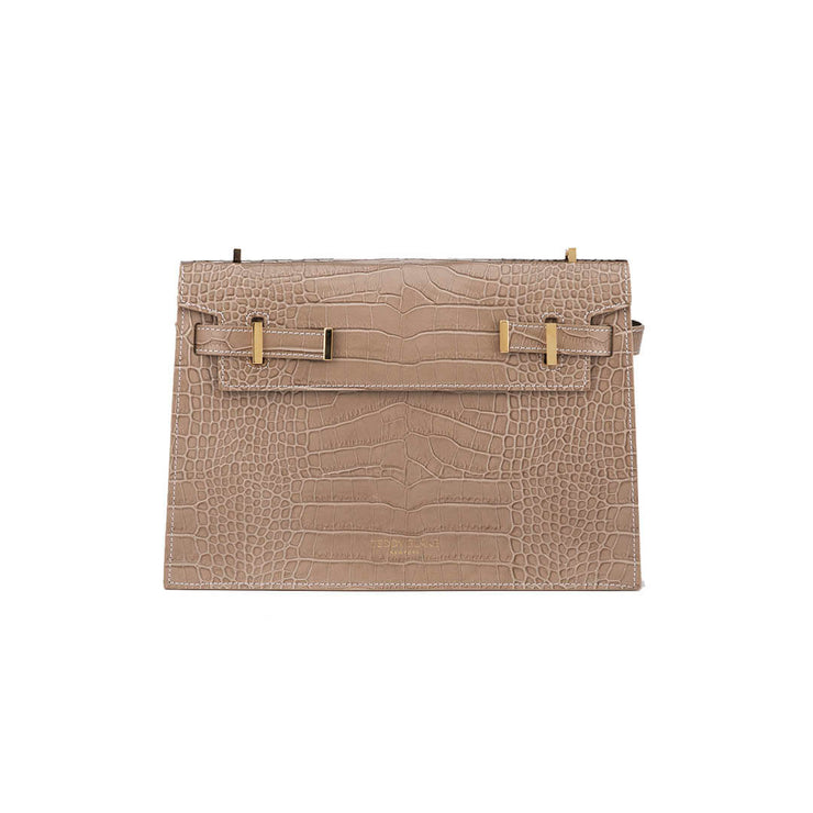 "Ella Croco 11"" - Light Beige"