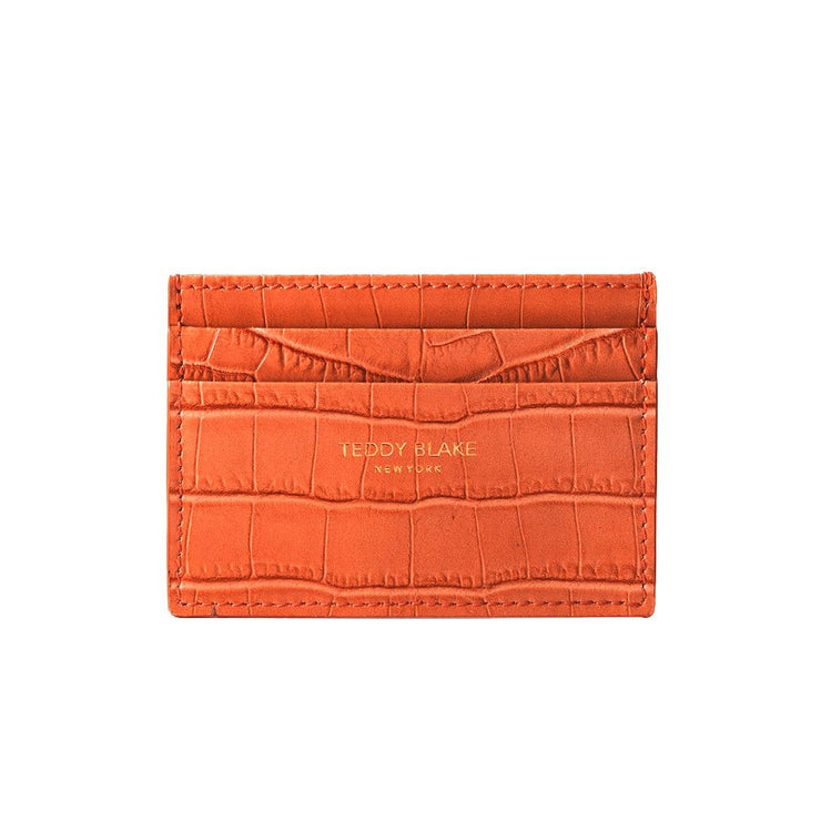 TB Cardholder Croco - Orange
