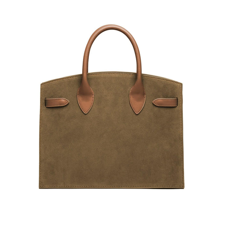 "Kate Duo Leather 12"" - Army Green&Camel"