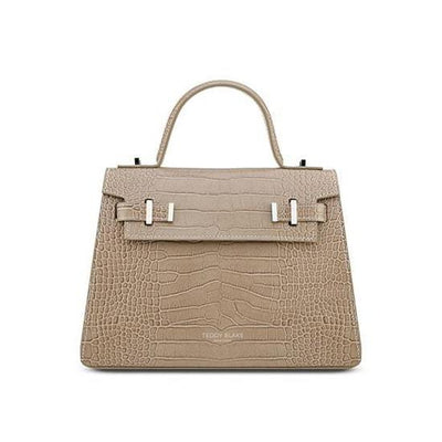 "Ava Croco Silver 11"" - Light Beige"