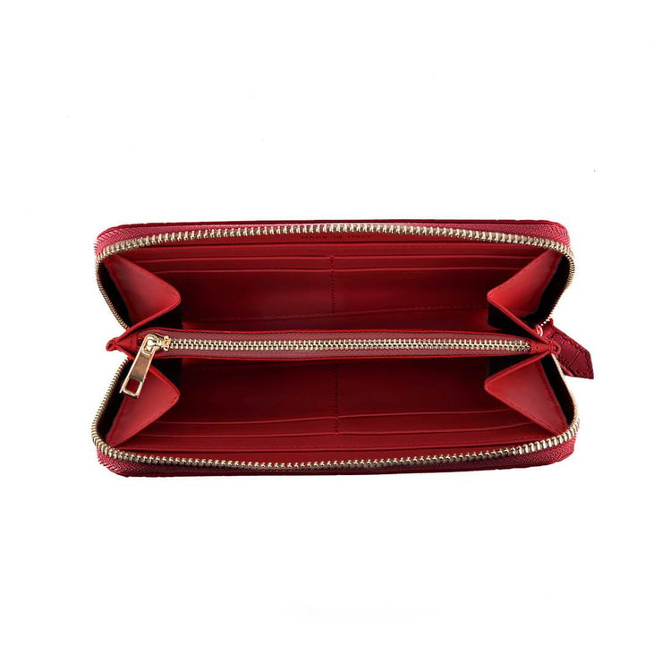 TB Zipwallet Croco - Dark Red