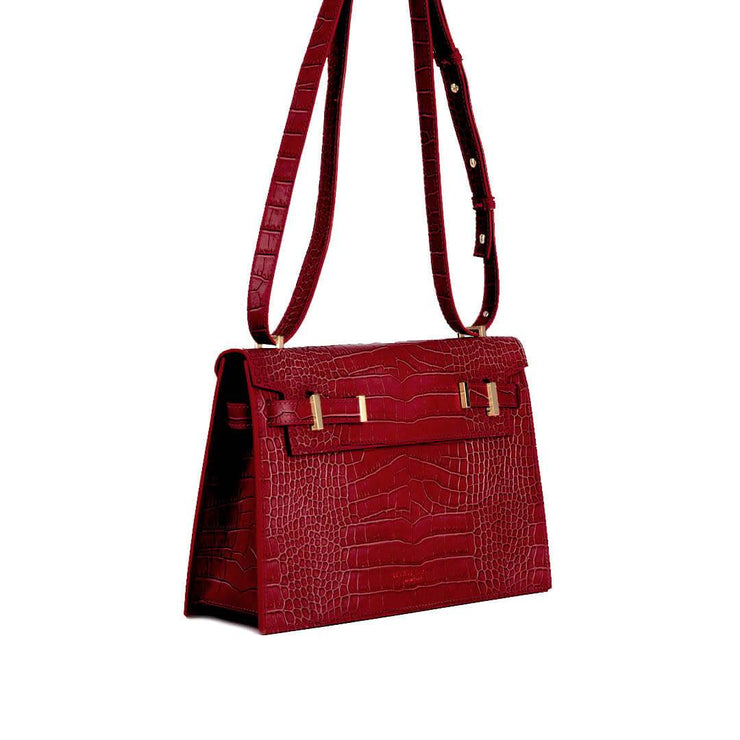 "Ella Croco 11"" - Dark Red"