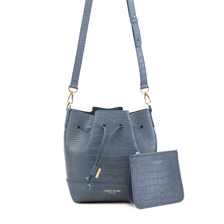 "Eliza Croco 9"" - Blue"