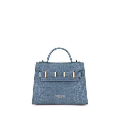 "Ava Croco Gold 9"" - Blue"