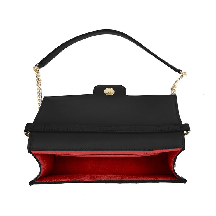 "Sophia Duo Leather 9"" - Black&Red"